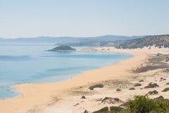 Plage d'or ou plage de tortue dans Karpasia, île de la Chypre Photo stock