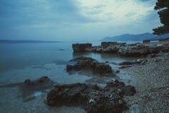 Plage Dalmatie, Croatie Images stock