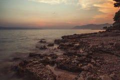 Plage Dalmatie, Croatie Photographie stock