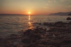 Plage Dalmatie, Croatie Photographie stock libre de droits