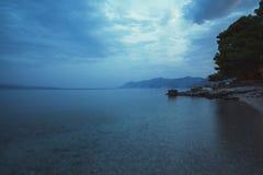 Plage Dalmatie, Croatie Photo libre de droits