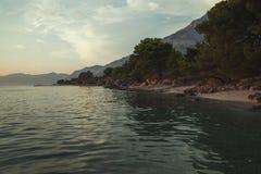 Plage Dalmatie, Croatie Photos libres de droits