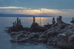 Plage Dalmatie, Croatie Images libres de droits