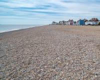 Plage dans Aldeburgh, Angleterre images libres de droits