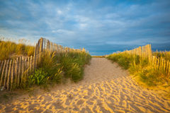 Plage dans brittany Photos stock