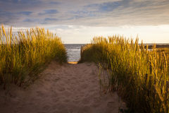 Plage dans brittany Images stock