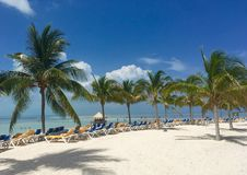 Plage dans CocoCay Photo stock