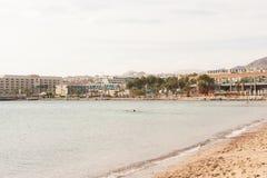 Plage dans Eilat Photos stock