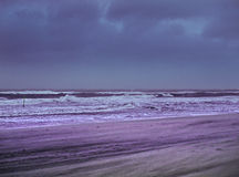 Plage dans la tempête Photo libre de droits