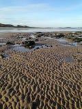 Plage dans le Northumberland, Angleterre est du nord photo stock