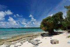 Plage dans Managaha, Saipan Photos libres de droits