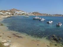 Plage dans Mykonos photographie stock libre de droits