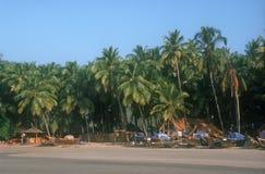Plage dans Palolem. l'Inde. Images libres de droits