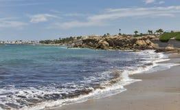 Plage dans Paphos, Chypre Photos libres de droits