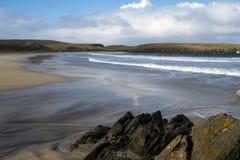 Plage dans Shetland Photos libres de droits