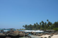 Plage dans Sri Lanka Image libre de droits