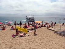 Plage de approche du lloret De mars de ferry Photographie stock libre de droits