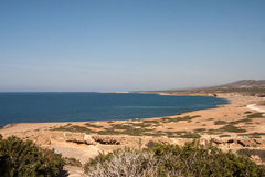 Plage de baie de Lara en Chypre Photos libres de droits