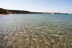 Plage de baie de Lara en Chypre Image libre de droits