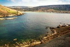 Plage de baie de Tuffieha Images stock