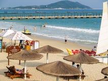 Plage de baie de Yalong à l'île de Hainan photos stock