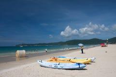 Plage de baie de Yalong Photos libres de droits
