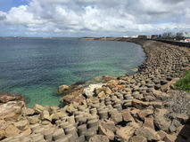 Plage de baie de Yarra Images libres de droits