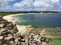 Plage de baie de Yarra Photo stock