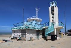 Plage de Bains de les de Malo à Dunkerque, France Photos stock