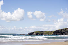 Plage de Ballybunion sur le chemin atlantique sauvage Photo libre de droits