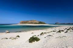 Plage de Balos en Crète occidentale, Grèce Images stock