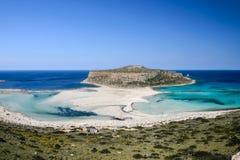 Plage de Balos en Crète occidentale, Grèce Photos stock