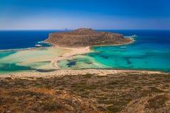 Plage de Balos et lagune, préfecture de Chania, Crète occidentale, Grèce Photo libre de droits