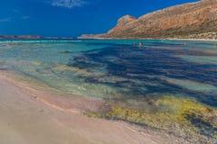Plage de Balos et lagune, préfecture de Chania, Crète occidentale, Grèce Image libre de droits