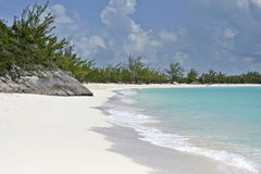 Plage de banc de sable de demi-lune Photo stock
