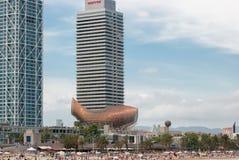 Plage de Barcelone photo libre de droits
