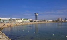 Plage de Barceloneta images libres de droits
