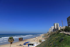 Plage de BAT-YAM Images stock