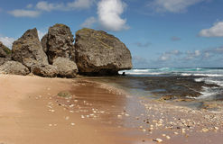 Plage de Bathsheba Photos stock