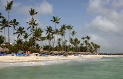 Plage de Bavaro Dominicana Photo stock