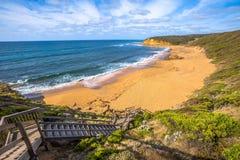 Plage de Bells dans la grande route d'océan, Victoria Photos libres de droits