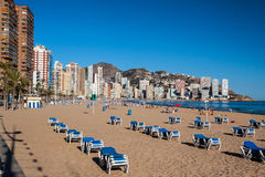 Plage de Benidorm Photo stock