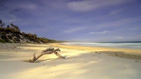 Plage de Bherwerre de baie d'abondance, parc national de Boodero, Jervis Bay, ACTE, Australie photos stock