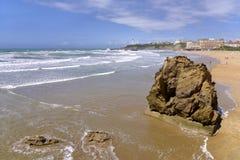 Plage de Biarritz dans les Frances Photo libre de droits