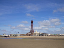 Plage de Blackpool Photos libres de droits
