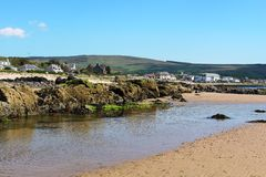 Plage de Blackwaterfoot, baie de Drumadoon, Arran Images libres de droits