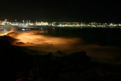 Plage de Bondi par nuit Photos stock