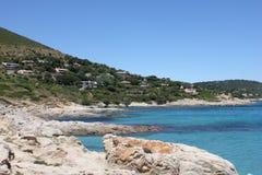 Plage de Bonne Terrase sur la Côte d'Azur photos libres de droits