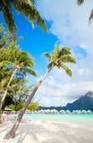 Plage de Bora Bora Photos libres de droits