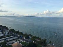 Plage de bord de la mer de la Thaïlande Bangkok Image stock